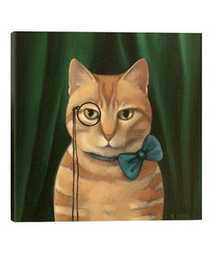 Another great find on #zulily! Antoinette Kelly Ralph Wrapped Canvas #zulilyfinds Oil Painting On Canvas, Canvas Wall Art, Canvas Prints, Original Artwork, Original Paintings, Cat Paintings, Artist At Work, Cat Art, Wrapped Canvas