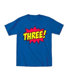 Featuring a bold, action-packed graphic that represents a little one's age, this cool tee saves the day with fun style. It forms easy alliances with just about any bottoms, so fighting off dull outfits is a piece of cake.