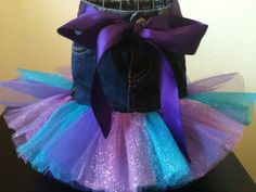 SIZE 6 MONTHS ONLYTutu Purple & Turquoise Glitter by TotsAndTulle, $10.00