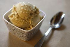 homemade coffee ice cream.
