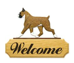 Boxer welcome sign www.pawsawhile.com.au