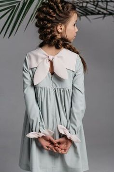 Girls Casual Dresses, Little Girl Outfits, Little Girl Fashion, Little Girl Dresses, Cute Dresses, Kids Outfits, Kids Fashion, Dress Casual, Little Girls