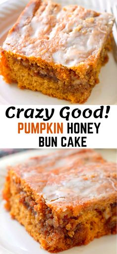 Pumpkin Honey Bun Cake, an easy cake that uses a box cake mix and delivers the perfect taste of Fall. Pumpkin Honey Bun Cake, an easy cake that uses a box cake mix and delivers the perfect taste of Fall. Honey Bun Cake, Honey Buns, Just Desserts, Dessert Recipes, Easy Fall Desserts, Baking Desserts, Pumpkin Dessert, Pumpkin Cake Recipes, Easy Cake Recipes