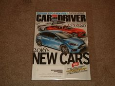 Monthly Automobile Magazine Back Issues in English New Nissan Maxima, Sep 2016, Now Magazine, Camaro Rs, Car And Driver, Driving Test, Automobile, Cars, Magazines
