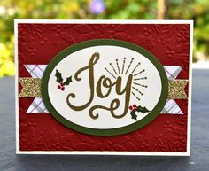 Krystal's Cards: Stampin' Up! Berry Merry Christmas #stampinup #krystals_cards #christmascard #berrymerry #handstamped #papercrafts #cardmaking #stampsomething