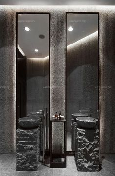 Contemporary Bathroom Design - Interior Decor and Designing Contemporary Bathroom Designs, Bathroom Design Luxury, Public Bathrooms, Dream Bathrooms, White Bathrooms, Luxury Bathrooms, Master Bathrooms, Small Bathrooms, Bathroom Spa