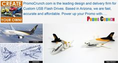 plane shaped custom flash drive