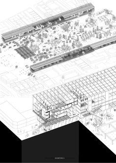 Correcciones Tipológicas: conoce los 12 proyectos del workshop de Juan Herreros en Chile,E10 – Universidad San Sebastián – Sede Santiago / Lámina 03. Image Cortesía de Facultad de Arquitectura USS