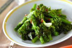 「菜の花のニンニク炒め」のレシピ