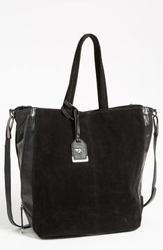 One last Nordies sale buy- couldnt resist! POVERTY FLATS by rian Faux Suede Tote, Extra Large available at #Nordstrom