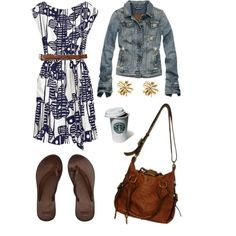 make the dress casual with the jacket and flip flops.