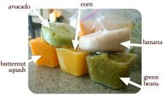 Baby Food Recipes. I loved making Harpers organic food, I froze them in ice cube trays too, genius idea!!