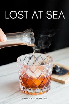 If You Like the Negroni, You'll Love the Lost at Sea! Two kinds of rum team up to make one amazingly delicious variation. Wine Cocktails, Bar Drinks, Cocktail Drinks, Beverages, Dark Rum Cocktails, Italian Cocktails, Drinks Alcohol Recipes, Alcoholic Drinks, Drink Recipes
