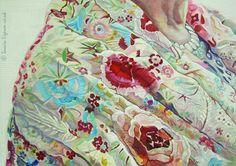 Portrait Painting . Detail VI .  Acrylic on Board . 77cm x 107cm .