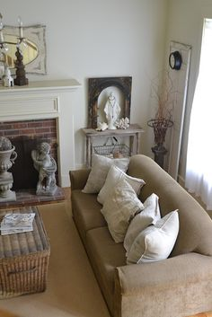 "I love the ""Mary altar"" in this room.  It has a place of prominence without making it feel like you've entered a chapel."