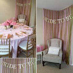 Decorate a corner for the bride to be for opening presents. It makes for beautiful pictures.