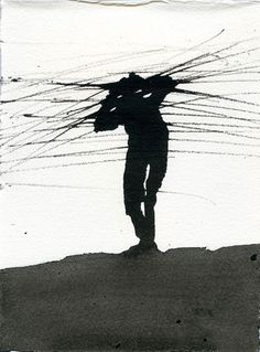 Antony-Gormley- Ink drawings