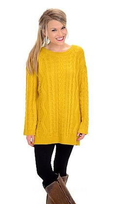 ShopBlueDoor.com:Even on the coldest of days, this sweater will be your own personal sunshine! $56