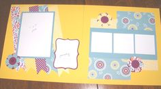 Spring Scrapbook pages