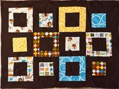 Jungle Quilt for baby, adapted from a Quilters Newsletter tutorial spring 2011 (Best Quilts for Kids).