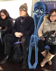 Ben Rubins subway Doodles Transform New York City Into A Fantastically Weird…
