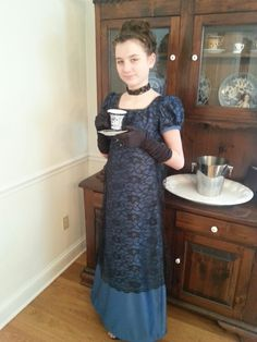 Jane Austen style dress.  This was fun to design and sew.