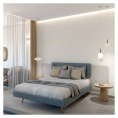 Extraordinary material combinations and ethereal separators offer a luxury experience, ideal for visitors who are seeking peace and relaxation moments. Unique Headboards, Open Bathroom, Interior Architecture, Interior Design, Ethereal, Relax, Peace, Contemporary, Living Room