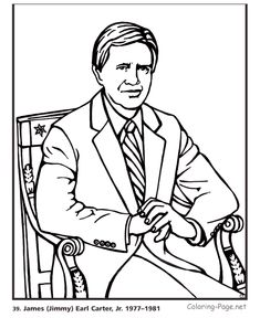 Jimmy Carter - US President coloring pages