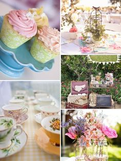 vintage pastel wedding party
