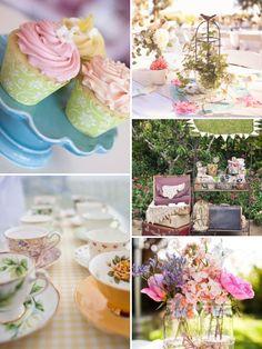 vintage pastel wedding party