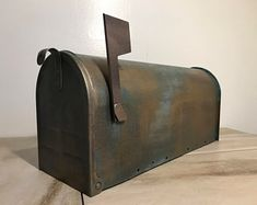 Hand painted treasures for your home. by SaratogaArtnCraft on Etsy Metal Mailbox, Aged Copper, Steel Metal, Hand Painted, Etsy, Handmade Gifts, Outdoor Decor, Vintage, Home Decor