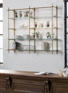 Ikea Glass shelves Living Room - Floating Glass shelves DIY - - Hanging Glass shelves - Glass shelves Partition - Glass shelves For Shoes Wine Glass Shelf, Glass Shelf Brackets, Glass Shelves In Bathroom, Floating Glass Shelves, Kitchen Shelves, Kitchen Cabinets, China Cabinets, Mounting Brackets, Kitchen Storage