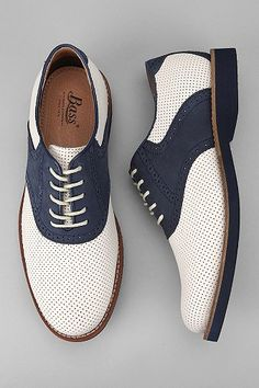 Bass Burlington Perf Shoe. Saddle Shoes #shoes #mens #fashion #saddleshoes
