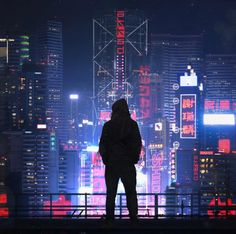 I was commissioned by 2 music producers, Akkad, to create a cyberpunk night cityscape similar to an older work of mine, Concrete Jungle. Cyberpunk Aesthetic, Cyberpunk City, Arte Cyberpunk, Futuristic City, City Aesthetic, Neon Noir, Usa Tumblr, Matte Painting, Concrete Jungle