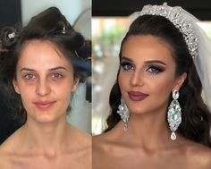 A wedding is a special ceremony and everything has to look perfect – from the food and decorations, to the clothes and hair. The preparations often start in the… Fall Wedding Makeup, Wedding Makeup For Brown Eyes, Makeup For Green Eyes, Swimming Hairstyles, Birthday Hairstyles, Sexy Eye Makeup, Makeup Before And After, Bridal Tips, Best Makeup Artist