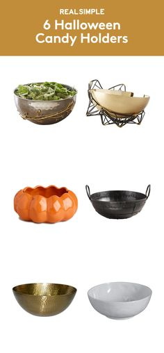 6 Halloween Candy Holders | Use these standout bowls to serve candy on Halloween and make a stylish statement at your fall get-togethers.