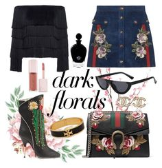 """When you say floar I hear Gucci"" by xx-adda on Polyvore featuring Pier 1 Imports, Gucci, A.L.C., Puma, Tory Burch, Chanel, EB Florals, black, gucci and polyvoreeditorial"