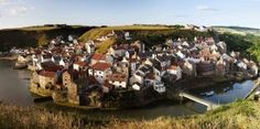 Staithes from Cowbar panoramic - photo by Mike Kipling © North York Moors National Park