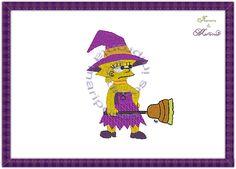 Impronta&mariposasembroidery: Bordado Simpson brujita ..