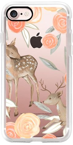 Casetify iPhone 7 Classic Grip Case - Romantic Deers by Bianca Pozzi #Casetify
