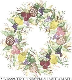 Stempelset 'Tiny Pineapple and Fruit Wreath'  Design: Rubber Stamp Tapestry