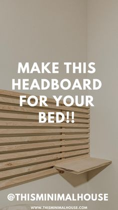 Make this headboard for your room Diy Storage Headboard, Floating Headboard, Bed Headboard Design, Headboard With Shelves, Modern Headboard, Wood Headboard, Headboards For Beds, Bed Design, Headboard Ideas