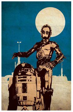 Vintage Pop Art Star Wars Series A Obi-Wan by Posterinspired