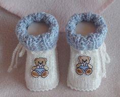 ❤️ Babyschuhe gestrickt gehäkelt 9,5 cm weiß hellblau Handarbeit mit Teddy | Baby, Kleidung, Schuhe & Accessoires, Schuhe | eBay!