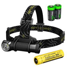 Nitecore HC30 1000 Lumens CREE XM-L2 U2 LED headlamp with Genuine Nitecore NL189 18650 3400mAh Li-ion rechargeable battery and Two EdisonBright CR123A Lithium Batteries -- You can get more details here : Camping stuff Camping Lights, 18650 Battery, Lead Acid Battery, Camping And Hiking, Camping Stuff, Led Headlights, Cool Things To Buy, Ebay, Accessories