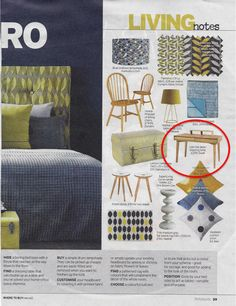 Dwell's Loki dressing table in the Sunday Mirror's Notebook magazine
