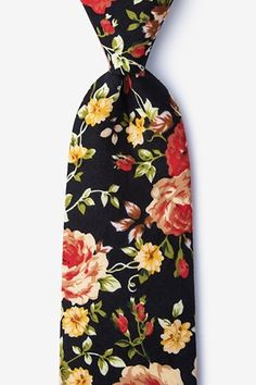 Shop Men's Cotton Blake Black & Coral Roses Flowers Floral Tie Necktie - Find the newest styles of Men's Neckties with Affordable Prices. Paisley Tie, Paisley Design, Coral Roses, Zipper Ties, Tie And Pocket Square, Pocket Squares, Tie Accessories, Silk Ties