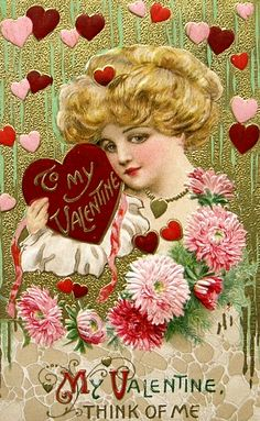 old postcard for valentines! samuel schmucker