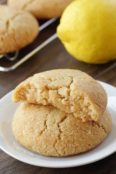 Vegan Paleo Lemon Cookies {grain-free, gluten-free, dairy-free} and with a how-to recipe video!