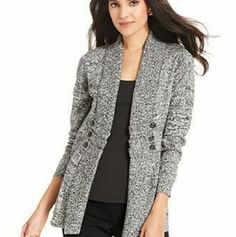 Gray Marble Button Down Lightweight Cardigan Gray Marble Button Down Lightweight Cardigan  Worn once 1st pic shows styling options a.n.a Sweaters Cardigans